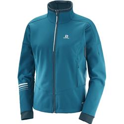 Salomon Lightning Warm Softshell Jacket - Womens-Deep Lagoon / Reflecting Pond
