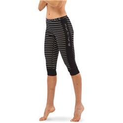 Mons Royale Alagna 3/4 Leggings - Womens-Black / Grey Marl