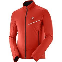 Salomon RS Softshell Jacket - Mens-Fiery Red / Black