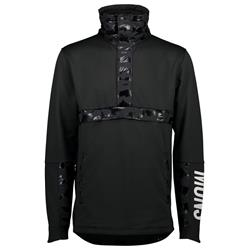 Mons Royale Decade Tech Mid Pullover - Mens-Black