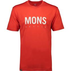 Mons Royale ICON T-Shirt - Mens-Bright Red