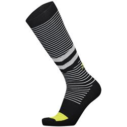 Mons Royale Lift Access Socks - Mens-Black / White stripe / Citrus