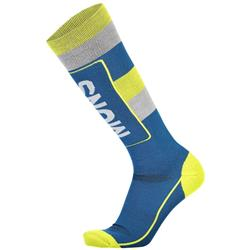 Mons Royale Mons Tech Cushion Socks - Mens-Oily Blue / Grey / Citrus