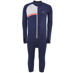 Mons Royale Supermons 3/4 One Piece - Mens-Navy / Grey Marl