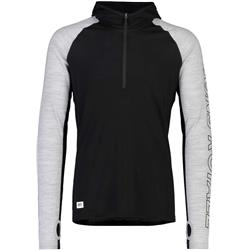 Mons Royale Temple Tech Hood - Mens-Black / Grey Marl