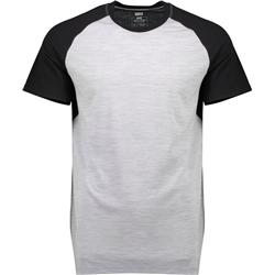 Mons Royale Temple Tech T - Mens-Black / Grey Marl