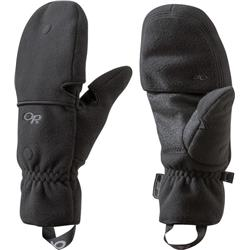 Outdoor Research Gripper Convertible Gloves-Black