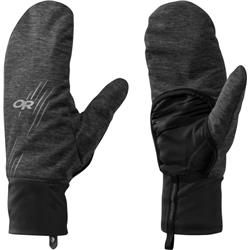 Outdoor Research Overdrive Convertible Gloves-Charcoal Heather / Black