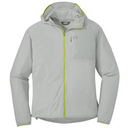 Outdoor Research Tantrum II Hooded Jacket - Mens-Alloy / Lemongrass