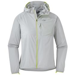 Outdoor Research Tantrum II Hooded Jacket - Womens-Alloy / Lemongrass
