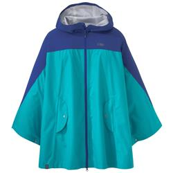 Outdoor Research Panorama Point Poncho - Womens-Baltic / Typhoon