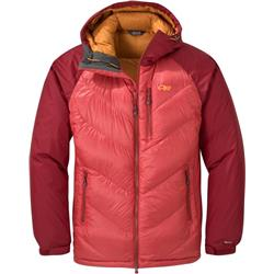Outdoor Research Alpine Down Hooded Jacket - Mens-Tomato / Firebrick