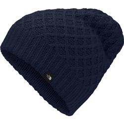 The North Face Shinsky Beanie-Montague Blue Criss Cross Stitch