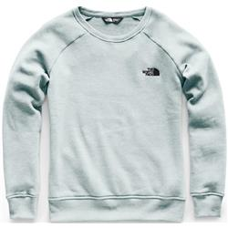 The North Face Slammin Fleece Crew - Womens-Blue Haze Heather / Asphalt Grey