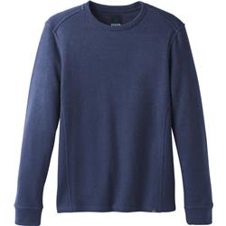 Prana Norcross LS Crew - Mens-Blue Anchor Heather