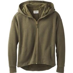 Prana Cozy Up Zip Up Jacket - Womens-Cargo Green Heather
