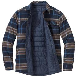 Outdoor Research Kalaloch Reversible Shirt Jacket - Mens-Naval Blue Plaid