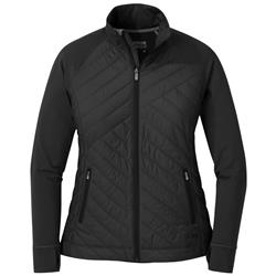 Outdoor Research Melody Hybrid Full Zip - Womens-Black