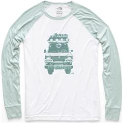 The North Face Take To Nature Tri-Blend Tee LS - Womens-TNF White Heather / Blue Haze Heather