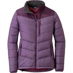 Outdoor Research Transcendent Down Jacket - Womens-Amethyst / Pacific Plum