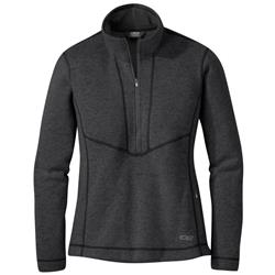 Outdoor Research Vashon Fleece Qtr-Zip - Womens-Charcoal Heather