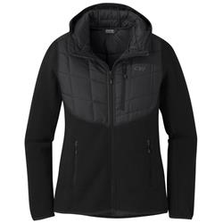 Outdoor Research Vashon Hybrid Full-Zip - Womens-Black Heather