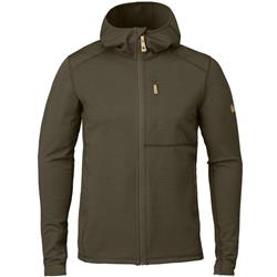 Fjallraven Keb Fleece Hoodie - Mens-Dark Olive
