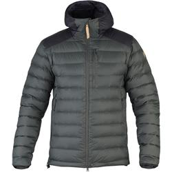 Fjallraven Keb Touring Down Jacket - Mens-Stone Grey / Black