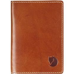 Fjallraven Leather Passport Cover-Leather Cognac