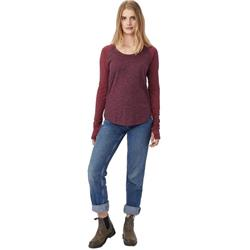 tentree Treescape LS - Womens-Burgandy