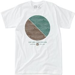Hippy Tree Divide Tee - Mens-White