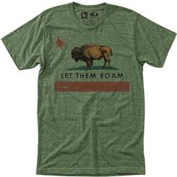 Hippy Tree Republic Tee - Mens-Heather Army