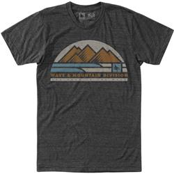 Hippy Tree Wavefront Tee - Mens-Heather Charcoal