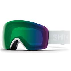 Smith Optics Skyline, White Vapor Frame, Chromapop Everyday Green Mirror Lens (Xtra Lens Not Included)-Not Applicable