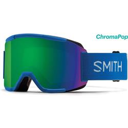 Smith Optics Squad, Imperial Blue Frame, Chromapop Sun Green Mirror Lens (Extra Lens : Yellow)-Not Applicable
