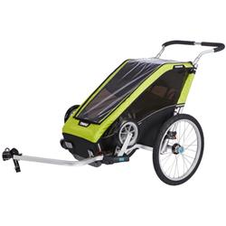 Thule Chariot Cheetah XT 1 + Cycle/Stroll-Chartreuse