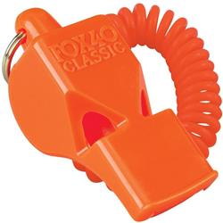 Fox 40 Classic Pealess Whistle with Coil-Orange