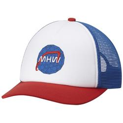 Mountain Hardwear Mission Control Trucker Hat-Altitude Blue / Fiery Red