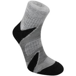 Bridgedale Trail Sport Lightweight Merino Cool Comfort Ankle Socks - Mens-Silver / Black