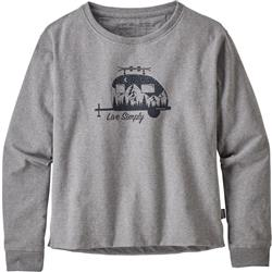 Patagonia Live Simply Trailer Uprisal Crew Sweatshirt - Womens-Gravel Heather
