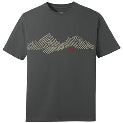 Outdoor Research Mountain Stripe Tee - Mens-Charcoal