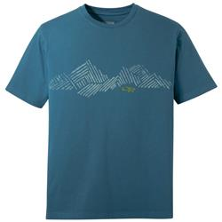 Outdoor Research Mountain Stripe Tee - Mens-Peacock
