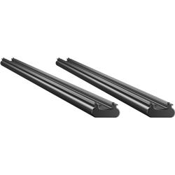 Thule TracRac SR Base Rail (14- Silverado/Sierra Long Bed)-Black