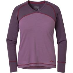 Outdoor Research Alpine Onset V-Neck - Womens-Amethyst / Pacific Plum