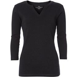 Royal Robbins Kickback Split Henley - Womens-Jet Black Heather