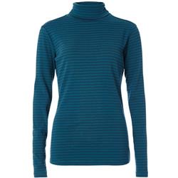 Royal Robbins Kickback Turtleneck - Womens-Blue Coral Stripe
