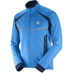 Salomon RS Warm Softshell Jacket - Mens-Surf The Web / Night Sky