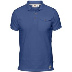 Fjallraven Greenland Polo Shirt - Mens-Deep Blue