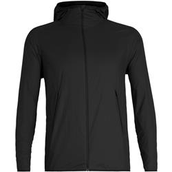 Icebreaker Coriolis II Hooded Windbreaker - Mens-Black