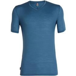 Icebreaker Solace SS V-Neck - Mens-Thunder